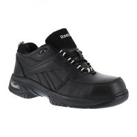 Reebok Work Men's Tyak Composite Toe High Performance Athletic Oxford Sneaker, Black