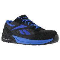 Reebok Work Men's Beviad Composite Toe Suede Leather Retro Jogger Oxford Sneaker, Dark Grey/blue