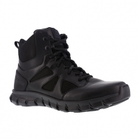 Reebok Work Men's Sublite Cushion Tactical Soft Toe 6 in. W/ Side Zip Tactical Boot, Black