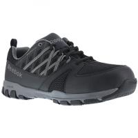 Reebok Work Men's Sublite Work Steel Toe Athletic Oxford Sneaker, Black/grey