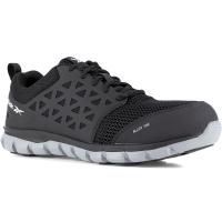 Reebok Work Men's Sublite Cushion Work Alloy Toe Athletic Oxford Sneaker, Black