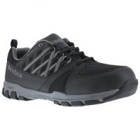 Reebok Work Men's Sublite Work Soft Toe Athletic Oxford Sneaker, Black/grey