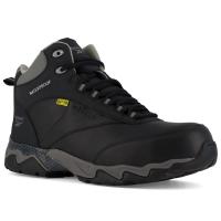 Reebok Work Men's Beamer Composite Toe Internal Met Guard Waterproof Athletic Hiker, Black/grey