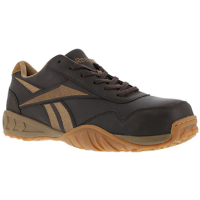 Reebok Work Men's Bema Composite Toe Low Profile Euro Casual Athletic Oxford Sneaker