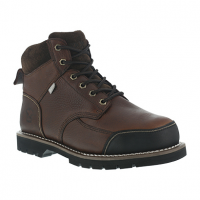Iron Age Men's Dozer Steel Toe 6 In. Internal Met Guard Work Boots, Brown