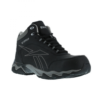 Reebok Work Men's Beamer Composite Toe Waterproof Athletic Hiker, Black/grey