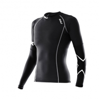 Women's Thermal Long-Sleeved Compression Top in Black