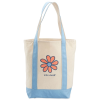 Life Is Good Daisy Carry-On Canvas Tote Bag