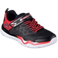 Skechers Boys Skech-Train Sneakers, Black/red