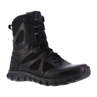 Reebok Work Men's Sublite Cushion Tactical Soft Toe 8 in. Waterproof Tactical Boot, Black