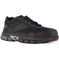 Reebok Work Men's Ketia Composite Toe Cross Trainer Shoes, Black/ Silver, Wide