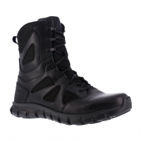 "Reebok Work Men's Sublite Cushion Tactical Soft Toe 8"" W/ Side Zipper Tactical Boot, Black"