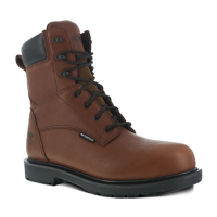 Iron Age Men's Hauler Composite Toe 8 In. Plain Toe Waterproof Work Boots, Brown