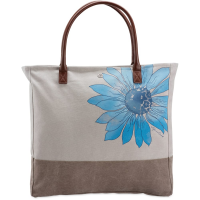 Life Is Good Watercolor Daisy Tote