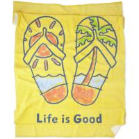 Life Is Good Flip Flop Scene Beach Towel