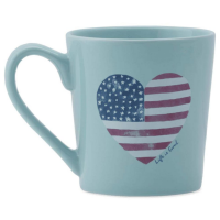 Life Is Good Flag Heart Watercolor Everyday Mug