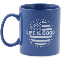 Life Is Good Circle Flag Jakes Mug