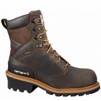 Carhartt Men's 8-Inch Vintage Saddle Safety Toe Logger Boots