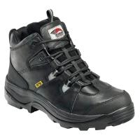 Avenger Men's 7313 Leather Steel Safety Toe Work Boots, Black, Wide