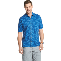 G.h.bass & Co. Men's Short-Sleeve Salt Cove Palm Print Button Down Shirt