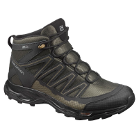 Salomon Men's Pathfinder Mid Climashield Waterproof Hiking Boots, Deep Depths/black/gothic Olive - Size 8