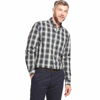 Arrow Men's Blazer Plaid Poplin Woven Long-Sleeve Shirt