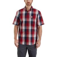 Carhartt Men's Essential Plaid Button Down Short-Sleeve Shirt