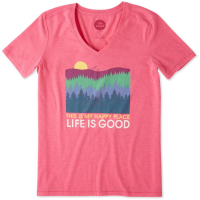 Life Is Good Women's Happy Place Trees Cool Vee Tee - Size S