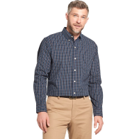 Arrow Men's Hamilton Plaid Poplin Long-Sleeve Shirt