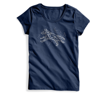 EMS Women's Fox Constellation Short-Sleeve Graphic Tee - Size S