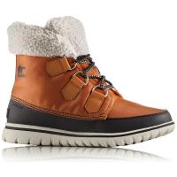 Sorel Women's Cozy Carnival Mid Waterproof Winter Boots, Caramel/black - Size 6.5