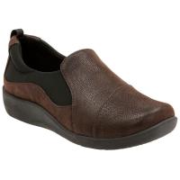 Clarks Women's Sillian Paz Casual Slip-On Shoes, Dark Brown - Size 8
