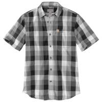 Carhartt Men's Essential Plaid Open Collar Short-Sleeve Shirt