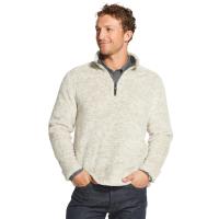 Gh Bass Men's Sherpa Melange Quarter Zip Fleece Pullover