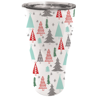Evergreen Enterprises Festive Woodland Double Wall 17 Oz. Stainless Steel Cup