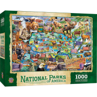 Master Piece Puzzle Co. National Parks Of America 1,000 Piece Puzzle