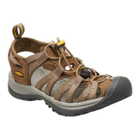 Keen Women's Whisper Sandals, Coffee Liqueur/yellow - Size 9