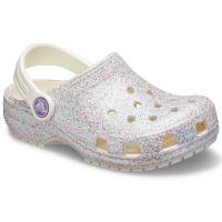 Crocs Girls' Classic Glitter Clog - Size 2