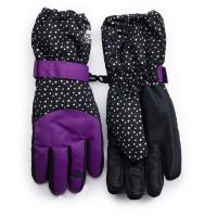 Nolan Girls' Purple And Black Insulate Gloves