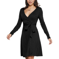 Toad & Co. Women's Cue Wrap Long-Sleeve Dress - Size XL