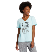 Life Is Good Sleep More Snuggle Up V-Neck