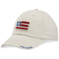 Life Is Good Women's Flag Applique Chill Tattered Adjustable Cap