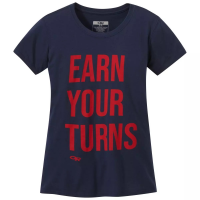 Outdoor Research Women's Earn Your Turns Short-Sleeve Tee - Size S