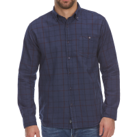 Artistry In Motion Guys' Over-Dye Plaid Woven Long-Sleeve Shirt