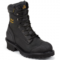 Chippewa Men's 8-Inch Oiled Composition Toe Logger Rugged Boots, Extra Wide Width