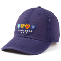 Life Is Good Women's 365 Hearts Chill Adjustable Cap