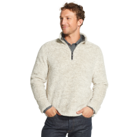 G.h. Bass & Co. Men's Sherpa Melange Quarter Zip Fleece Pullover