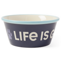 Life Is Good Paw Wag Dog Bowl, Large