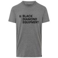 Black Diamond Men's Stacked Logo Short-Sleeve Tee - Size S