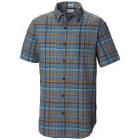 Columbia Men's Under Exposure Yarn-Dye Short Sleeve Shirt - Size M